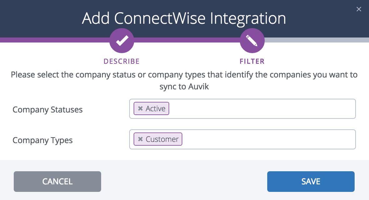 Integrating Auvik with ConnectWise Manage – Auvik Support