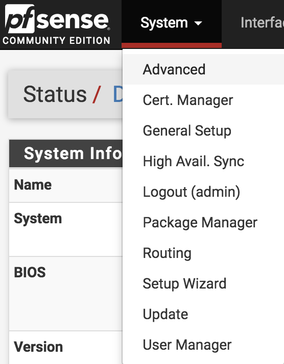 Configuring pfSense to work with Auvik's remote browser feature