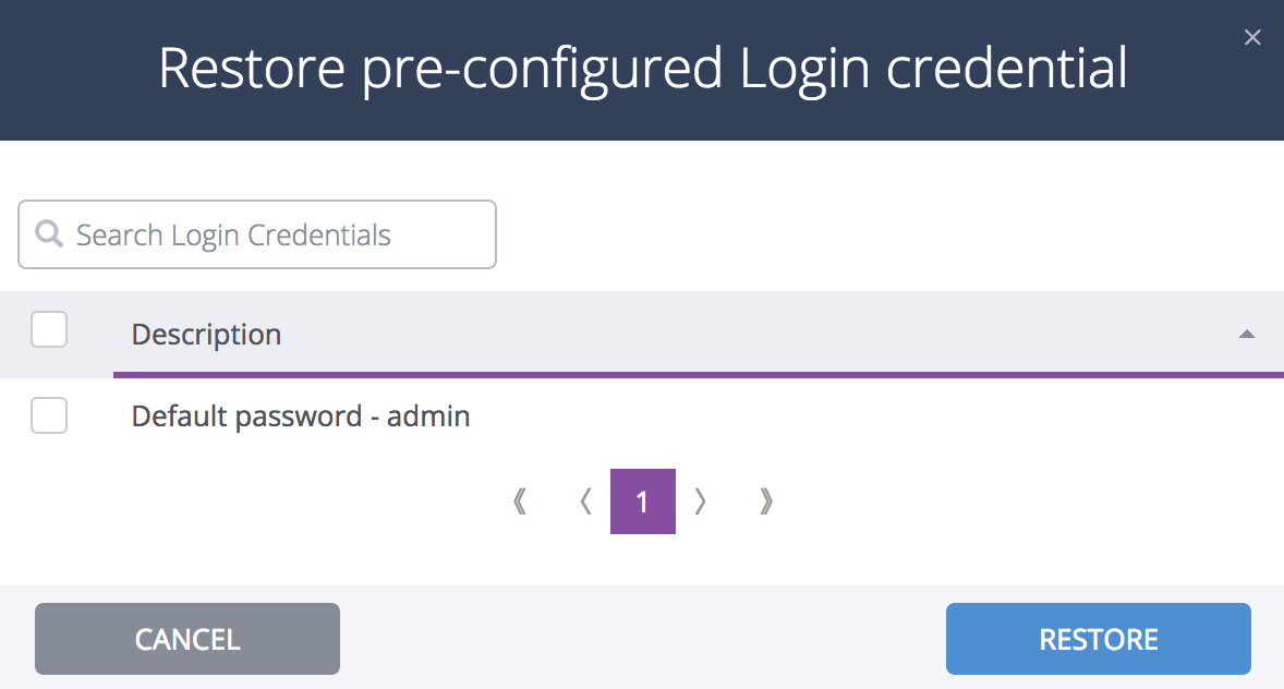 How do I add, edit, delete, or retry login credentials